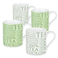 "Konitz ""100% Tea"" Mugs (Set of 4)"