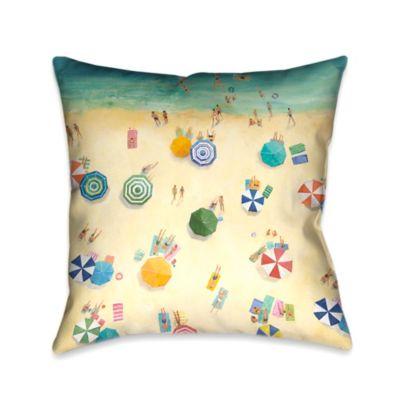 Fun Throw Pillows For Bed : Laural Home Summer Fun Square Throw Pillow - Bed Bath & Beyond