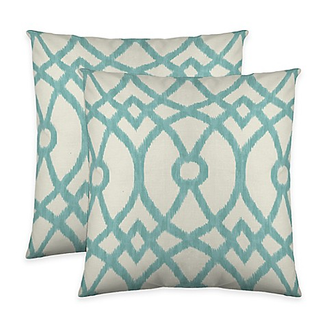 Buy Colorfly Piper Throw Pillow in Aqua (Set of 2) from Bed Bath & Beyond