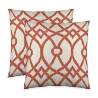 Colorfly™ Piper Throw Pillow in Coral (Set of 2)