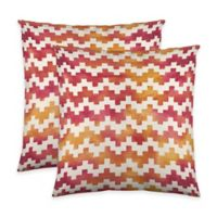 Colorfly™ Pixie Throw Pillow in Coral (Set of 2)