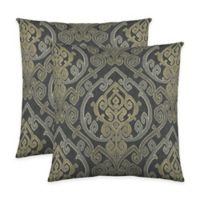 Colorfly™ Zaya Throw Pillow in Charcoal (Set of 2)