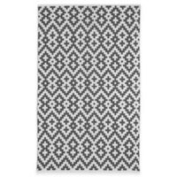 Fab Habitat Samsara 5-Foot x 8-Foot Area Rug in Charcoal & White