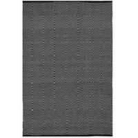 Fab Habitat Zen Cotton 5-Foot x 8-Foot Rug in Black/Bright White
