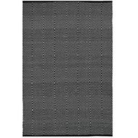 Fab Habitat Zen Cotton 8-Foot x 10-Foot Rug in Black/Bright White