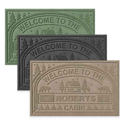 "Weather Guard™ ""Welcome to the Cabin"" 23-Inch x 36-Inch Door Mat"