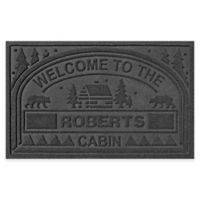 "Weather Guard™ ""Welcome to the Cabin"" 23-Inch x 36-Inch Door Mat in Charcoal"