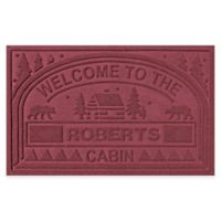"""Weather Guard™ """"Welcome to the Cabin"""" 23-Inch x 36-Inch Door Mat in Red/Black"""