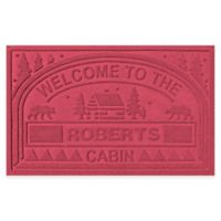 "Weather Guard™ ""Welcome to the Cabin"" 23-Inch x 36-Inch Door Mat in Red"