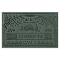 "Weather Guard™ ""Welcome to the Cabin"" 23-Inch x 36-Inch Door Mat in Evergreen"