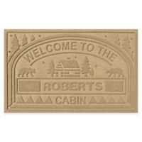 """Weather Guard™ """"Welcome to the Cabin"""" 23-Inch x 36-Inch Door Mat in Gold"""