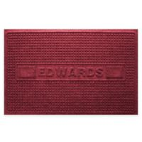 Weather Guard™ Squares 23-Inch x 36-Inch Door Mat in Red/Black