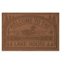 "Weather Guard™ ""Welcome to the Lake House"" 30-Inch x 45-Inch Door Mat in Dark Brown"