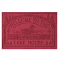 "Weather Guard™ ""Welcome to the Lake House"" 30-Inch x 45-Inch Door Mat in Red/Black"