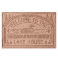 "Weather Guard™ ""Welcome to the Lake House"" 30-Inch x 45-Inch Door Mat in Medium Brown"