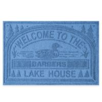 "Weather Guard™ ""Welcome to the Lake House"" 30-Inch x 45-Inch Door Mat in Medium Blue"