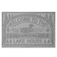 "Weather Guard™ ""Welcome to the Lake House"" 30-Inch x 45-Inch Door Mat in Grey"