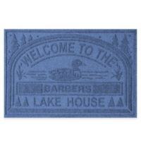 "Weather Guard™ ""Welcome to the Lake House"" 30-Inch x 45-Inch Door Mat in Navy"