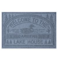 """Weather Guard™ """"Welcome to the Lake House"""" 30-Inch x 45-Inch Door Mat in Blue Stone"""