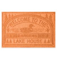 """Weather Guard™ """"Welcome to the Lake House"""" 30-Inch x 45-Inch Door Mat in Orange"""