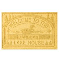 """Weather Guard™ """"Welcome to the Lake House"""" 30-Inch x 45-Inch Door Mat in Yellow"""