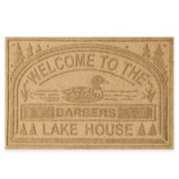 """Weather Guard™ """"Welcome to the Lake House"""" 30-Inch x 45-Inch Door Mat in Gold"""