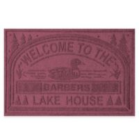 """Weather Guard™ """"Welcome to the Lake House"""" 30-Inch x 45-Inch Door Mat in Bordeaux"""