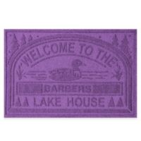 "Weather Guard™ ""Welcome to the Lake House"" 30-Inch x 45-Inch Door Mat in Purple"
