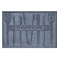 Weather Guard™ BBQ Tools 30-Inch x 45-Inch Mat in Blue Stone