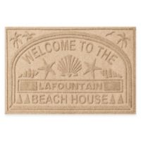"""Weather Guard™ """"Welcome to the Beach House"""" 30-Inch x 45-Inch Door Mat in Camel"""