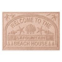 "Weather Guard™ ""Welcome to the Beach House"" 30-Inch x 45-Inch Door Mat in Medium Brown"