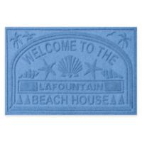 "Weather Guard™ ""Welcome to the Beach House"" 30-Inch x 45-Inch Door Mat in Medium Blue"