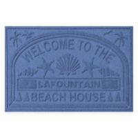 "Weather Guard™ ""Welcome to the Beach House"" 30-Inch x 45-Inch Door Mat in Navy"