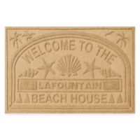 "Weather Guard™ ""Welcome to the Beach House"" 30-Inch x 45-Inch Door Mat in Gold"