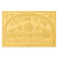 "Weather Guard™ ""Welcome to the Beach House"" 30-Inch x 45-Inch Door Mat in Yellow"