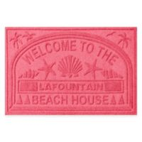 "Weather Guard™ ""Welcome to the Beach House"" 30-Inch x 45-Inch Door Mat in Red"