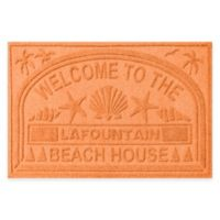 "Weather Guard™ ""Welcome to the Beach House"" 30-Inch x 45-Inch Door Mat in Orange"