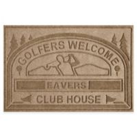"Weather Guard™ ""Club House: Golfers Welcome"" 30-Inch x 45-Inch Door Mat in Camel"