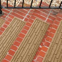Weather Guard™ Broken Brick 30-Inch x 8.5-Inch Stair Treads in Camel (Set of 2)