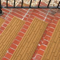 Weather Guard™ Broken Brick 30-Inch x 8.5-Inch Stair Treads in Gold (Set of 2)