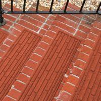 Weather Guard™ Broken Brick 30-Inch x 8.5-Inch Stair Treads in Orange (Set of 2)