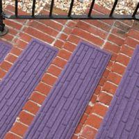 Weather Guard™ Broken Brick 30-Inch x 8.5-Inch Stair Treads in Purple (Set of 2)