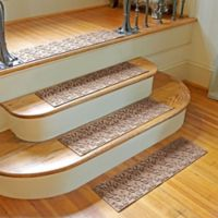 Weather Guard™ Dogwood Leaf Stair Treads in Medium Brown (Set of 2)