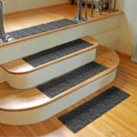 Weather Guard™ Dogwood Leaf Stair Treads in Charcoal (Set of 2)