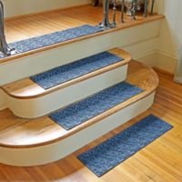 Weather Guard™ Dogwood Leaf Stair Treads in Medium Blue (Set of 2)