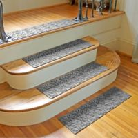 Weather Guard™ Dogwood Leaf Stair Treads in Grey (Set of 2)