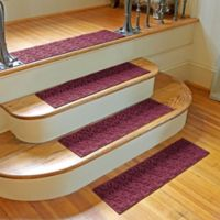 Weather Guard™ Dogwood Leaf Stair Treads in Bordeaux (Set of 2)