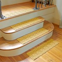 Weather Guard™ Dogwood Leaf Stair Treads in Yellow (Set of 2)