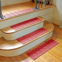 Weather Guard™ Dogwood Leaf Stair Treads in Red (Set of 2)
