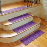 Weather Guard™ Dogwood Leaf Stair Treads in Purple (Set of 2)